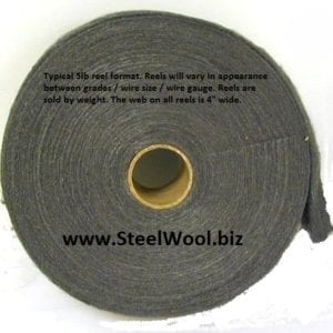 Typical 5 LB Steel Wool Reel