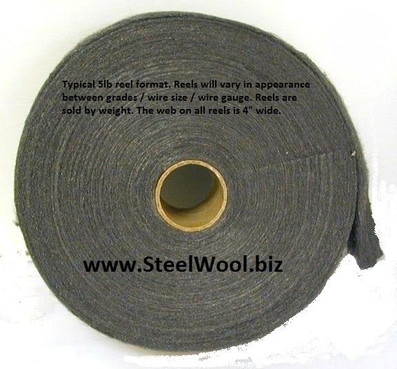 Typical 5 LB Steel Wool Reel